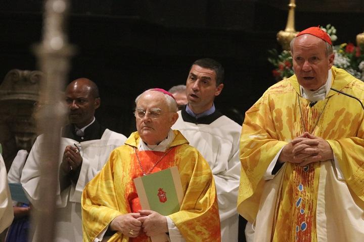 Il cardinale Schönborn e l'arcivescovo Hoser