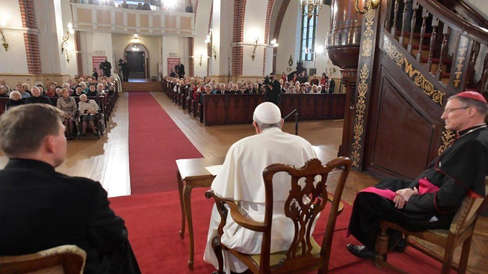 Papa Francesco a Riga