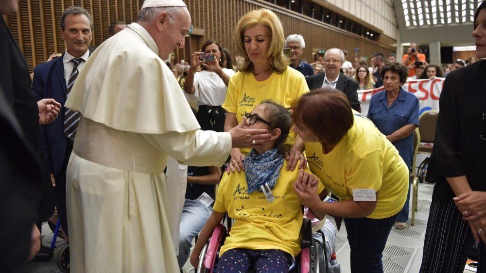 Papa Francesco con i genitori