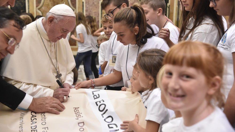 Papa Francesco autografo 13 settembre 2018