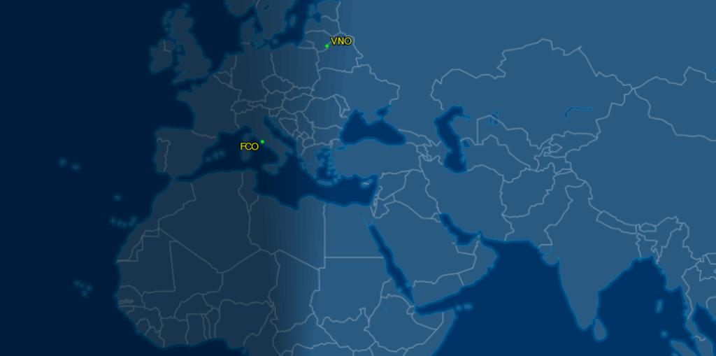 volo del papa per la lituania