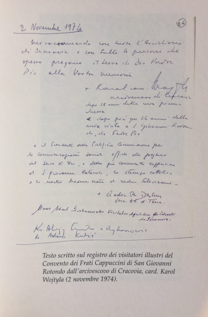 70 anni fa il primo incontro tra Padre Pio e don Karol Wojtyła