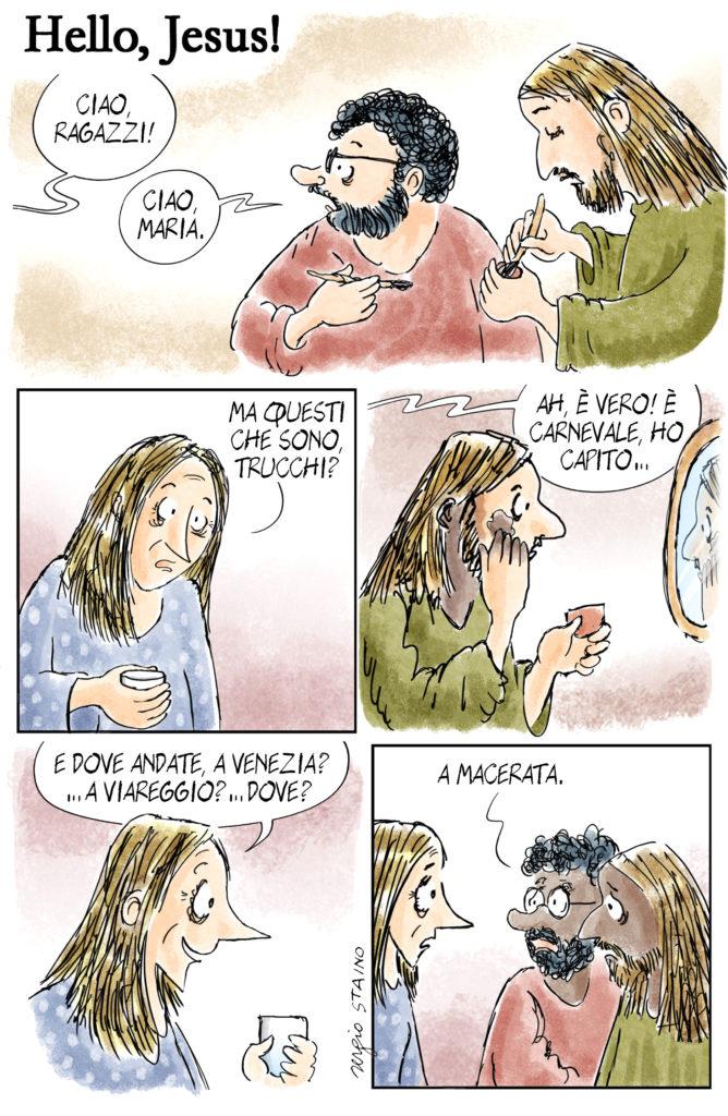 Una delle vignette criticate di Staino su Avvenire