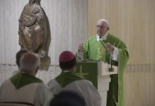 Papa Francesco alla Messa a Santa Marta (Vatican Media)