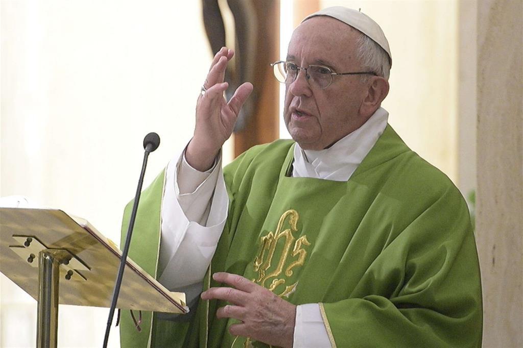 Papa Francesco alla Messa a Santa Marta
