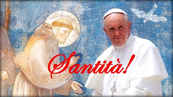 Papa Francesco san Francesco