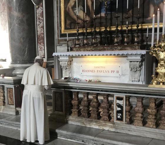 papa francesco tomba giovanni paolo