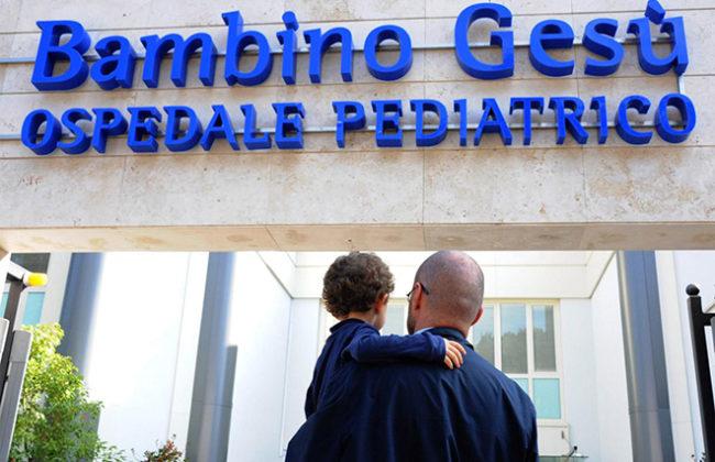 L'ospedale Bambino Gesù (Foto Omniroma)