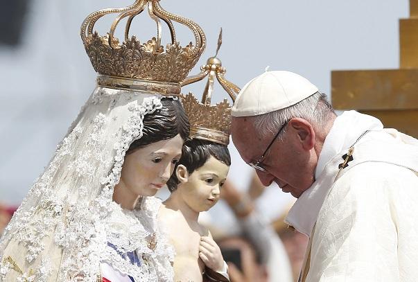 Pope Francis Virgin Mary