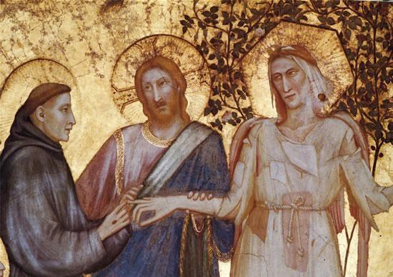 san francesco e madonna povertà
