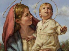 madonna con bambino Gesù