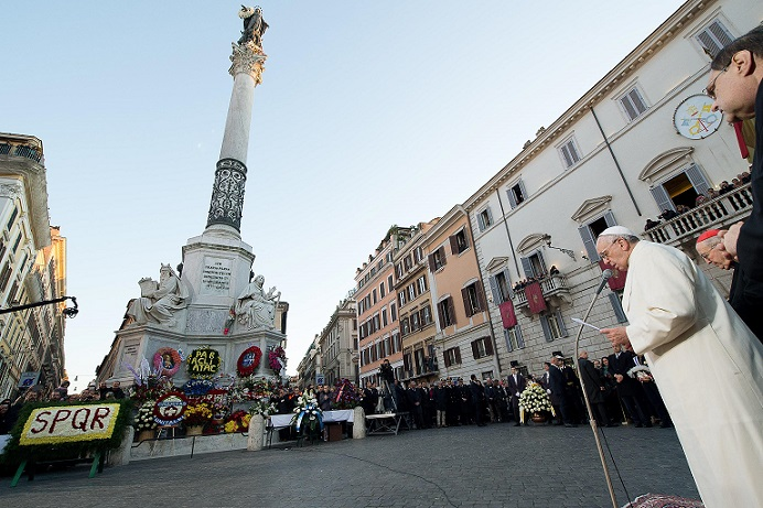 papa francesco 8 dicembre