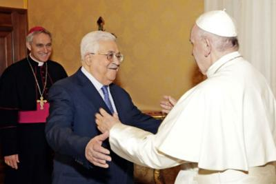 Papa_Francesco_Abu_Mazen_Afp2