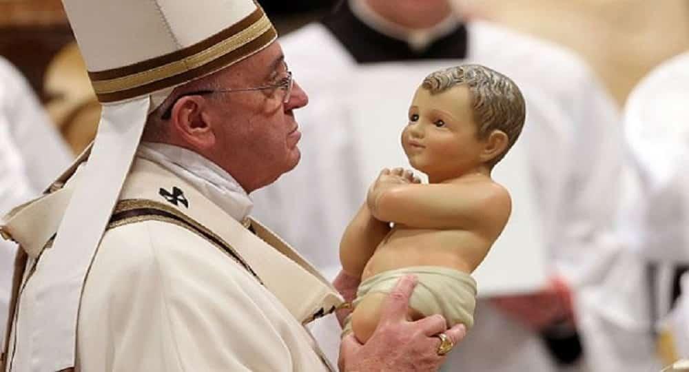 Papa Francesco e Gesù Bambino