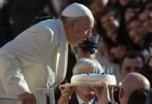 papa francesco torta