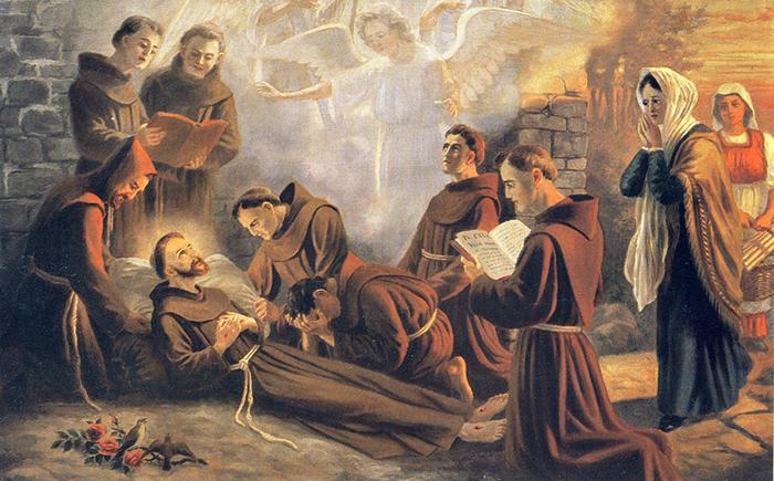 San Francesco morte