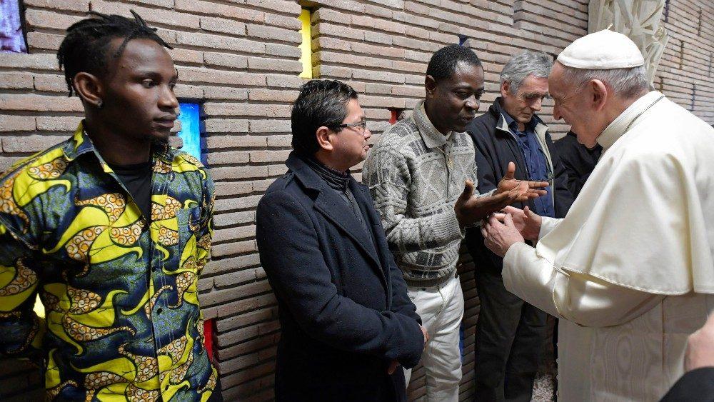 papa francesco incontro poveri 3 febbraio 2019