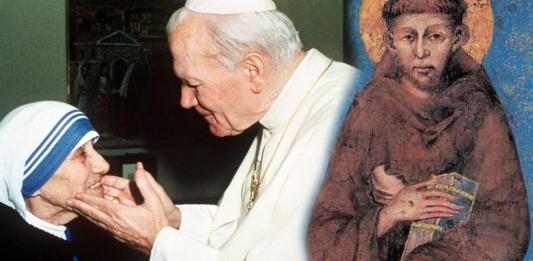 San Francesco - Giovanni Paolo II - Madre Teresa