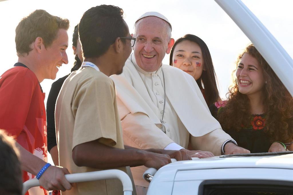 Papa Francesco.giovani