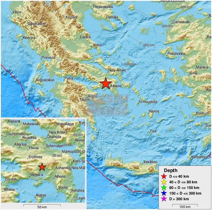 Terremoto. Fortissima scossa in Grecia. Paura per le strade, scappano i turisti