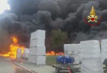 incendio Avellino allerta ultimora