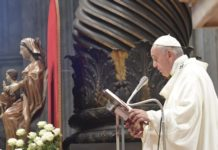 papa francesco basilica vaticana oggi