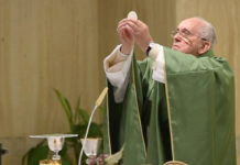 Papa Francesco oggi a Casa S. Marta