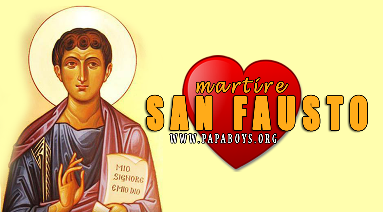 Il Santo di oggi 19 Novembre 2019 San Fausto d'Alessandria, Martire