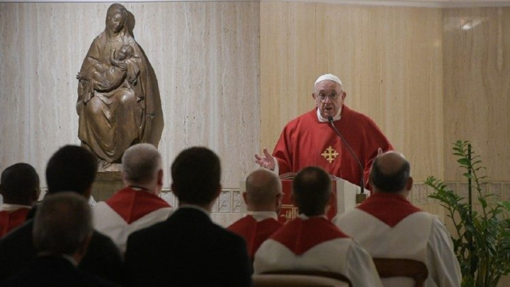 Papa Francesco a Santa Marta oggi 12 novembre 2019