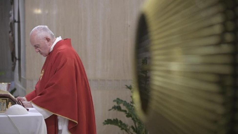 Papa Francesco a Santa Marta oggi