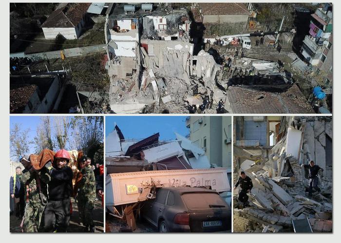terremoto devastante in albania