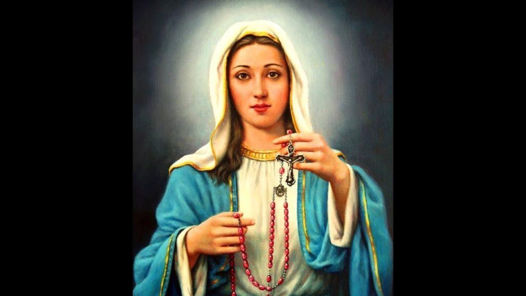 il santo rosario e la vergine