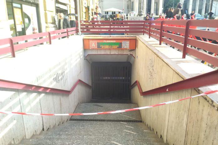 metro A roma flaminio militare morta