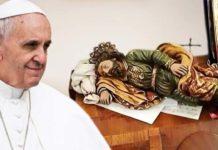 Papa Francesco San giuseppe dormiente preghiera