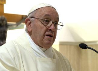 Papa Francesco a Santa Marta 'la gioia del popolo di Dio perché Dio era con loro'