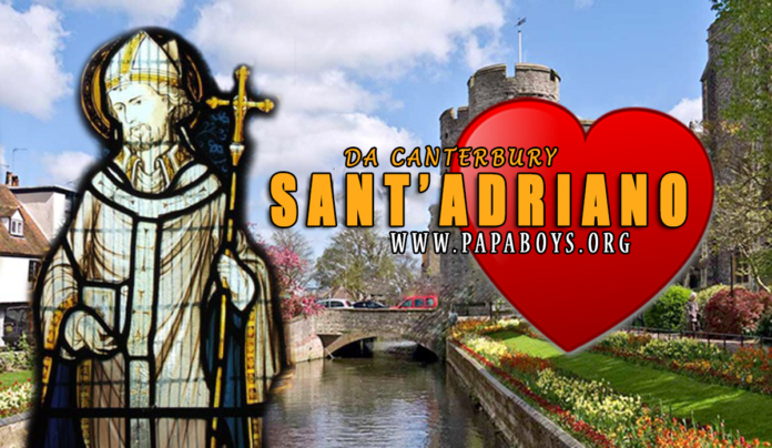Sant'Adriano di Canterbury, Abate