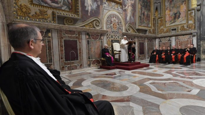 Papa Francesco apre il 91.mo Anno Giudiziario del Tribunale dello Stato del Vaticano. Le sue parole
