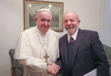 Papa Francesco riceve l'ex presidente del Brasile che dichiara 'Il mondo si ispiri papa Francesco.'