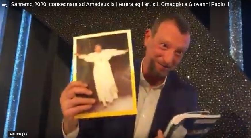 la lettera agli artisti amadeus