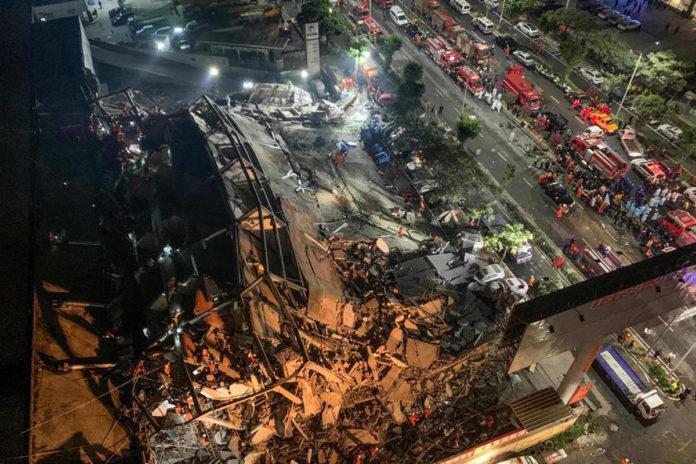 Crolla un hotel utilizzato per la quarantena: 70 persone sotto le macerie