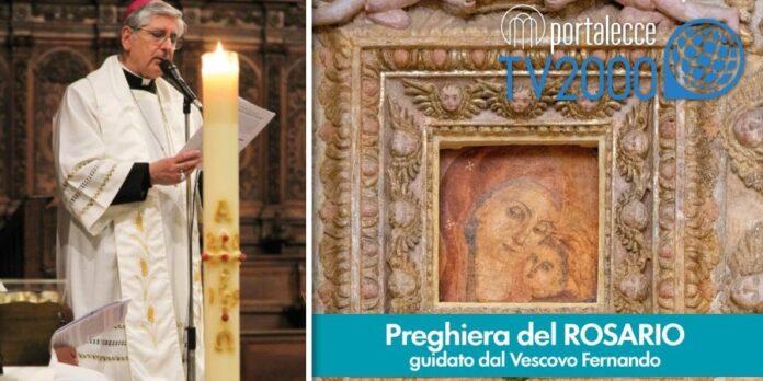 rosario per l'italia ore 21 da copertino stasera