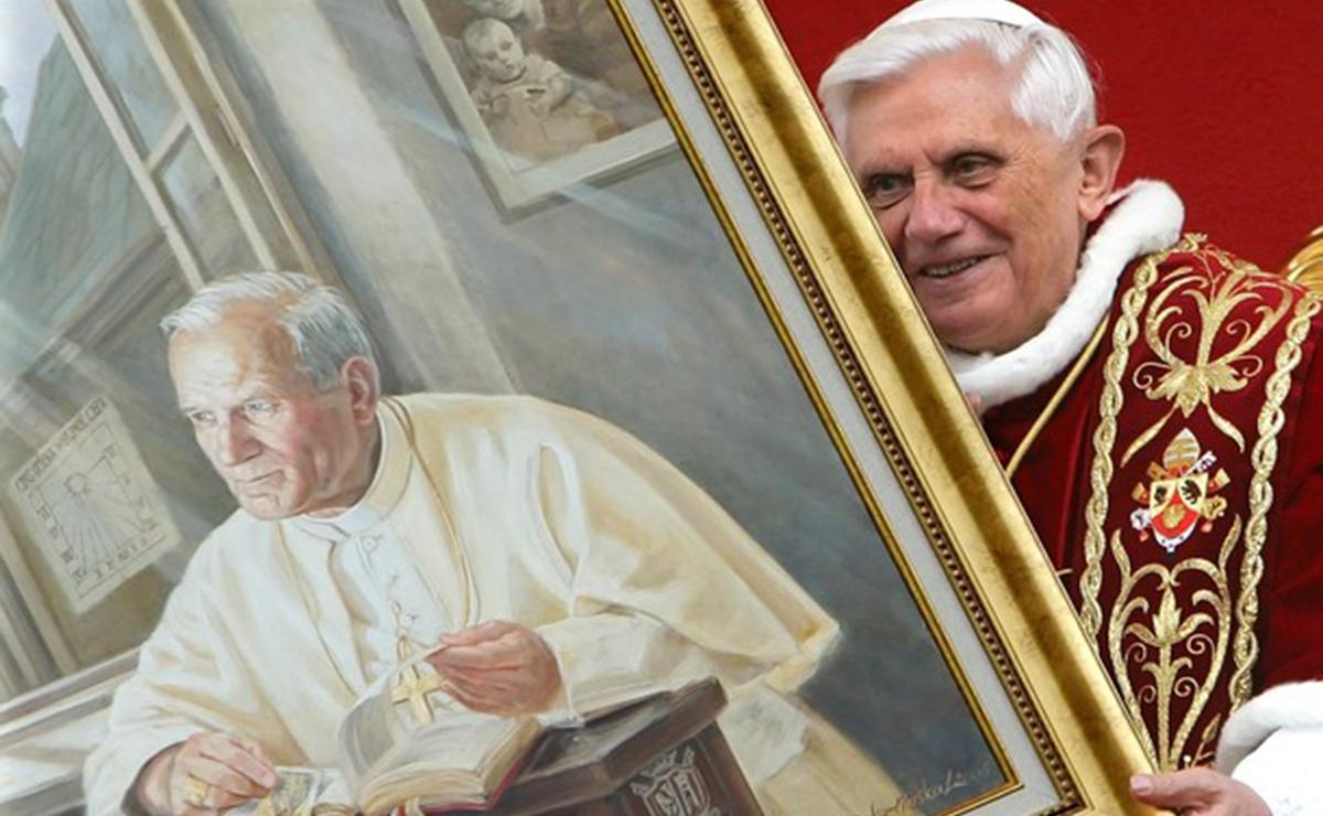 Giovanni Paolo II e Benedetto XVI