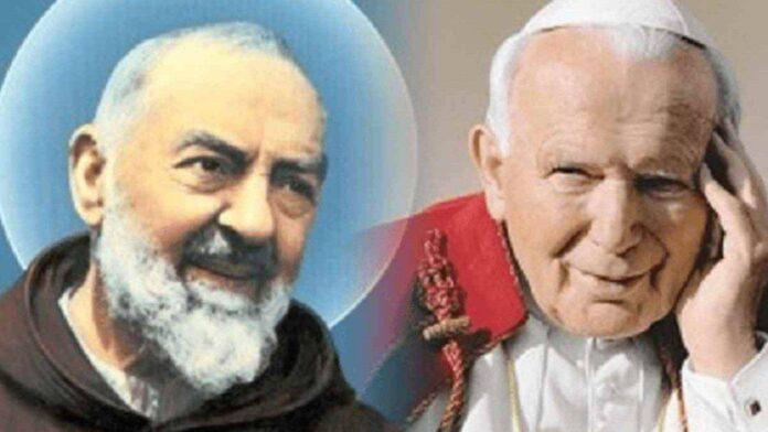 Padre Pio e Giovanni Paolo II