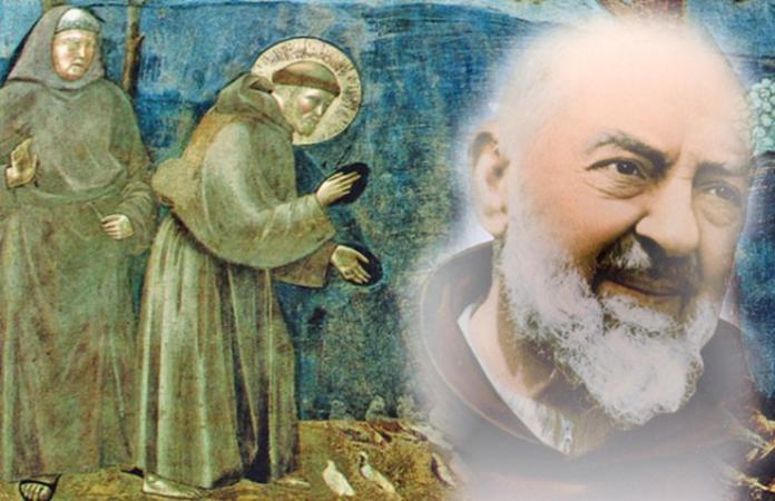 San Francesco, Padre Pio e gli Angeli