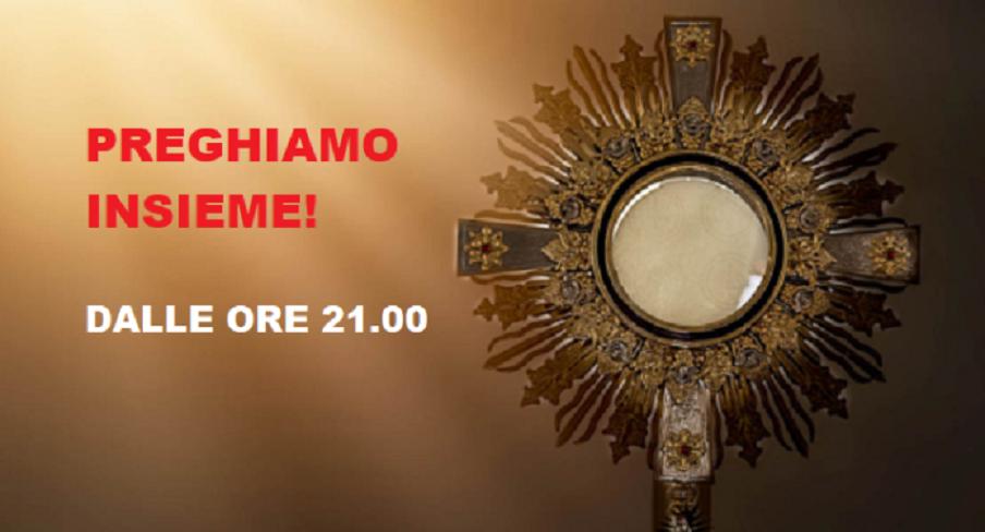Medjugorje, Preghiera di Adorazione Eucaristica DOMENICA 31 MAGGIO 2020, dalle ore 21.00