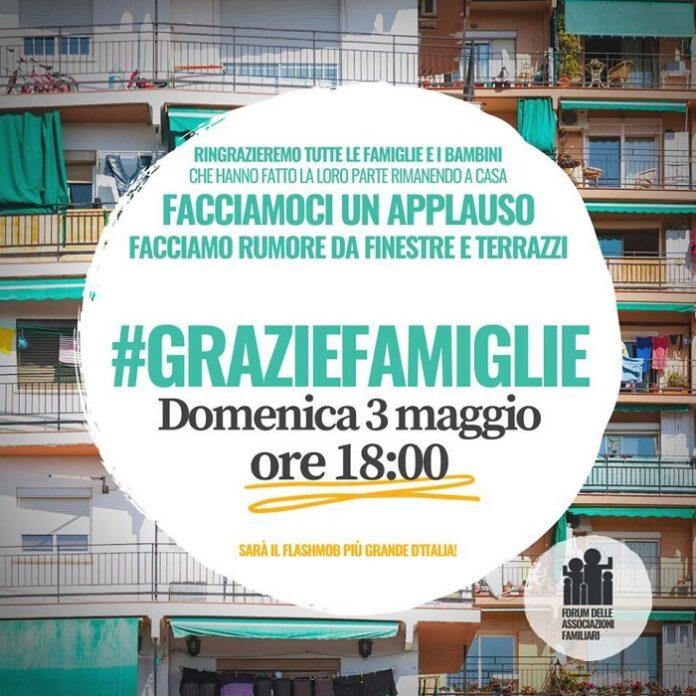 Fase 2: oggi alle 18 dai balconi d'Italia il flash-mob #graziefamiglie