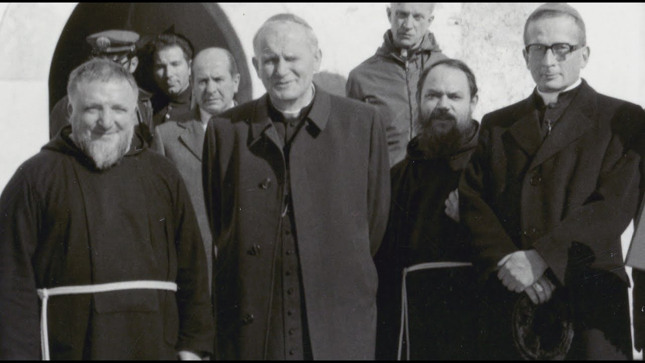 Karol Wojtyla in visita da Padre Pio
