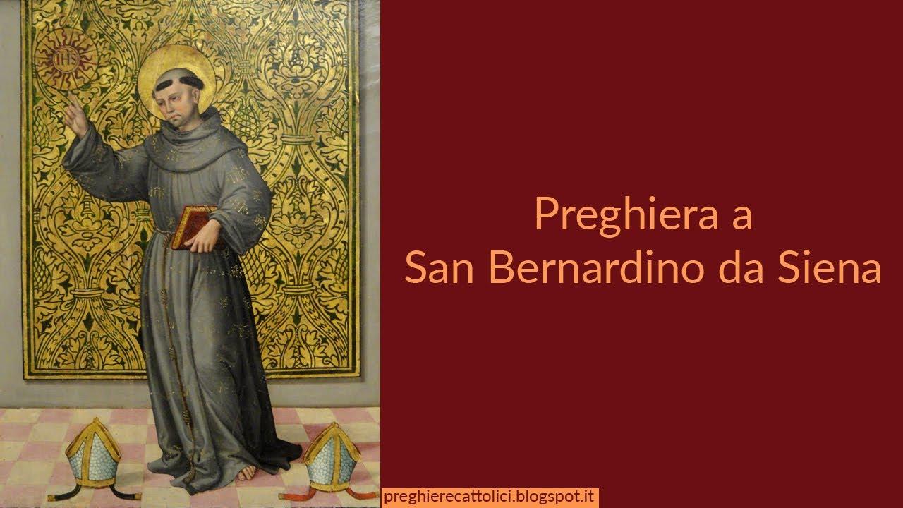 Preghiera a San Bernardino da Siena