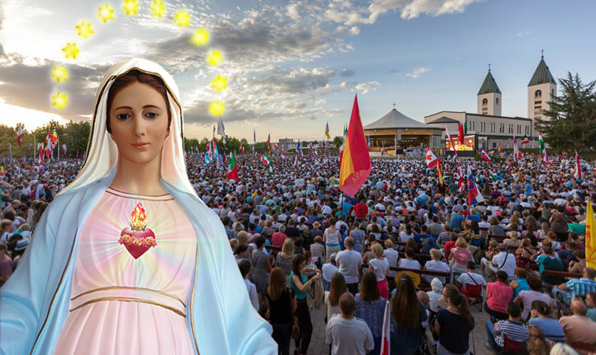 The section dedicated to Medjugorje - 23 June 2020