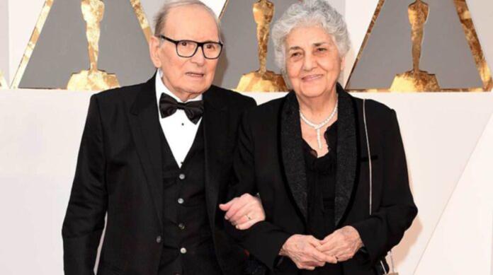 Ennio Morricone e sua moglie Maria